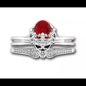 Skull Ring With Band-Size 8